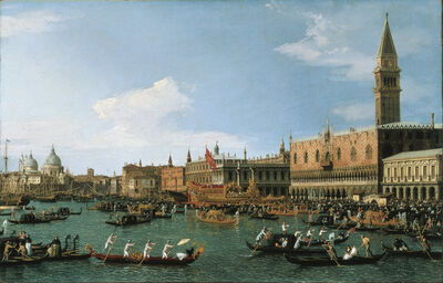 Canaletto, 'Return of 'Il Bucintoro' on Ascension Day', 1745-1750