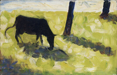 Georges Seurat, 'Black Cow in a Meadow', ca. 1881