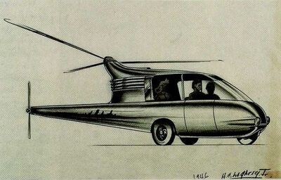 Homer C. LaGassey, 'Commuter Helicopter', 1946