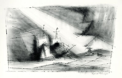 Lyonel Feininger, 'Off the Coast, Third Stone (Vor der Kuste, Stein 3)', 1951