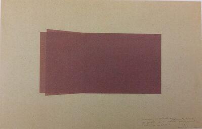 Francesco Lo Savio, 'Visione Prospettica leggermente laterale per Progetto di Metallo Monocromatico Nero di M. 2x1', 1960