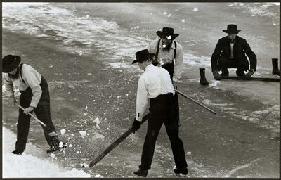 Barry L. Thumma, 'Amish Hockey Game', 1970s