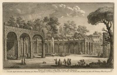 Giuseppe Vasi, 'Teatro di verdure nella Villa Corsini alla Lungara', 1747-1801