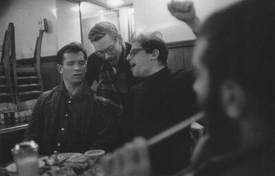 John Cohen, 'Jack Kerouac, Lucien Carr, and Allen Ginsberg Singing', 1959