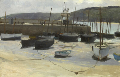 Edward Emerson Simmons, 'Low Tide, St. Ives Harbor', 1887