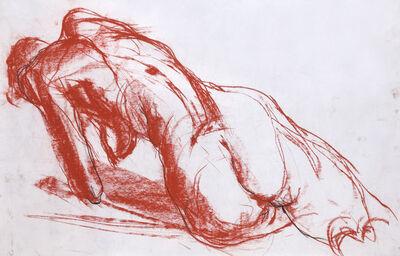 Solamalay Namasivayam, 'Reclining Nude in Orange Pastel', ca. 1990s