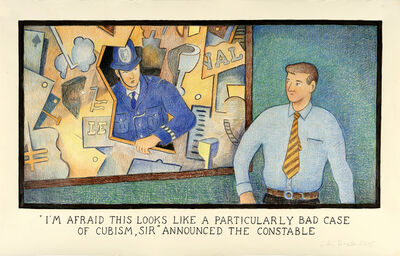 Glen Baxter, 'I'm afraid this looks like a particularly bad case of Cubism, Sir', 2005