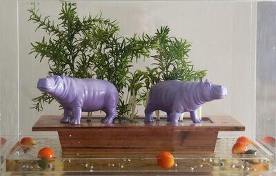 William Sweetlove, 'Cloned Purple Hippos', 2009
