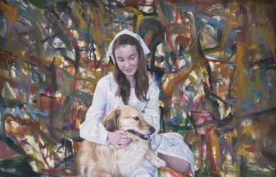 Jim Shaw, 'Oist Children Portrait (Girl & Dog) ', 2011
