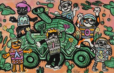 Nobuaki Takekawa, 'The Cactus Field and Cat AMIGOS', 2020