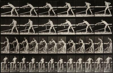 Eadweard Muybridge, 'Animal Locomotion: Plate 370 (Nude Man Playing Wood)', 1887