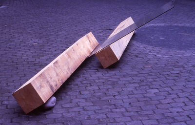 Keiji Uematsu, 'Situation-Glass/Wood/Stone', 1980