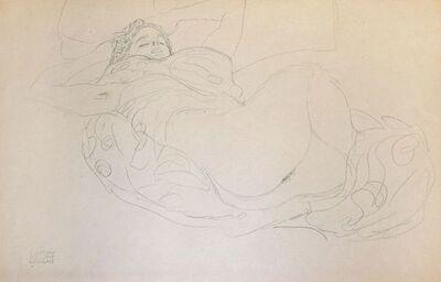 Gustav Klimt, 'Lying Female Nude', 1919