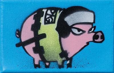 Mau Mau, 'Riot Pig (Blue)', 2015
