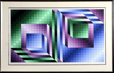 Victor Vasarely, 'Xonau II', ca. 1980