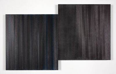 Anne Lindberg, 'two black trees', 2016