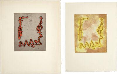 Joan Miró, 'Ruthven Todd Album, Joan Miró poem: two impressions', 1947
