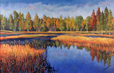 Robert Ekholm, 'Cedars and River', 1985