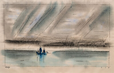 Lyonel Feininger, '(Sailing Ship on Calm Sea)', 1945