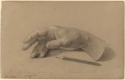 Hiram Powers, 'Study of a Hand', 1856