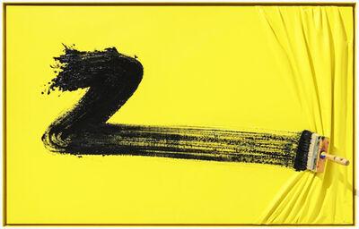 Jean-Paul Donadini, 'Black brush on yellow', 2019