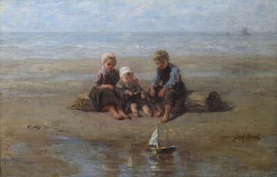 Jozef Israëls, 'Three Children by the Beach', 19th century