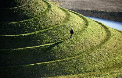 Steve McCurry, 'Man Walks on Crawick Multiverse, United Kingdom', 2016