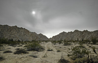Mark Klett, 'Faint trail, granitic mountains near Raven Butte, from Camino del Diablo', 2013