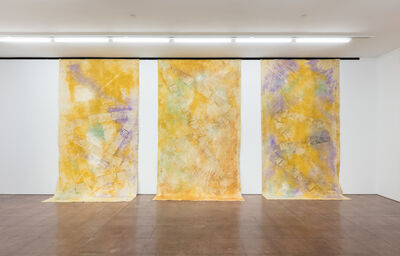 Jessica Warboys, '3x River Wax Painting X (I, II, III)', 2019
