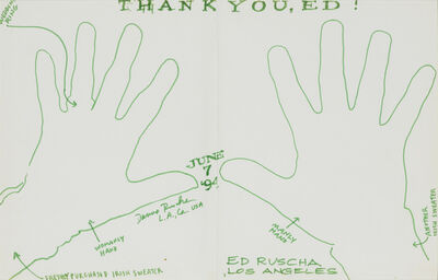 Ed Ruscha, 'Untitled (diptych)', 1994