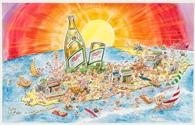 "Jack Davis, 'Miller High Life ""Spring Break"" Advertising Painting; Original Art'"