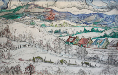 Marc-Aurèle Fortin, 'Winter Village'