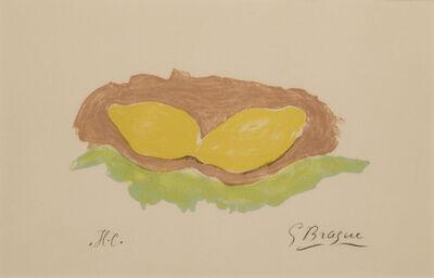 Georges Braque, 'Les Citrons', 1954
