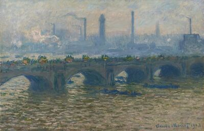 Claude Monet, 'Waterloo Bridge, Overcast', 1903