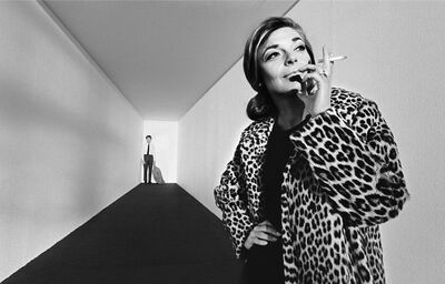 Bob Willoughby, 'Dustin Hoffman & Anne Bancroft on a specially constructed set on 'The Graduate'', 1967