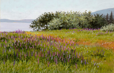 June Grey, 'A Field of Lupines along the Coast', 2005