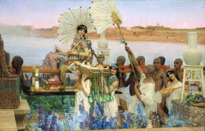 Sir Lawrence Alma-Tadema, 'The Finding of Moses', 1904