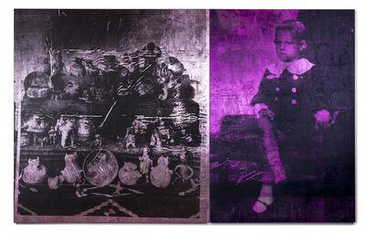 Brook Andrew, 'Boy (magenta) & pink ceramics', 2018