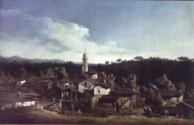 Bernardo Bellotto, 'View of the villa Cagnola at Gazzada', 1744
