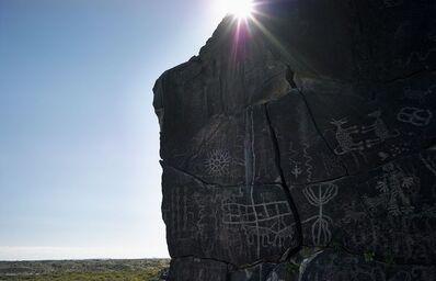 Mark Klett, 'Petroglyphs near Sears Point, Gila River, from Camino del Diablo'