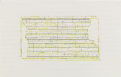 Julia Fish, 'Trace 3: after Threshold, Southeast One [spectrum: yellow]', 2010-2013