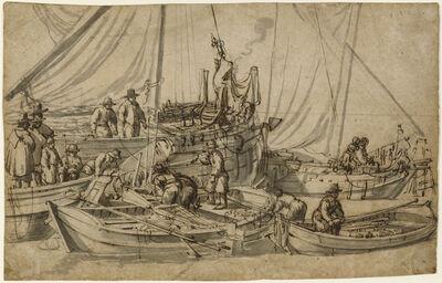 Willem van de Velde the Elder, 'Figures on Board Small Merchant Vessels', 1650-1655
