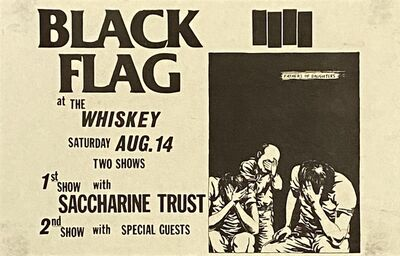 Raymond Pettibon, 'Raymond Pettibon illustrated Black Flag flyer 1982', 1982