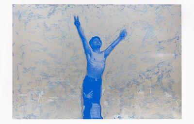 Hank Willis Thomas, 'Fast (Blue on Silver)', 2018