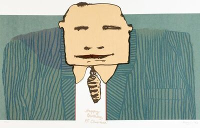 Robert Hodgins, 'Happy Birthday Mr Chairman', 1999