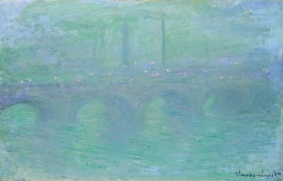 Claude Monet, 'Waterloo Bridge, London, at Dusk', 1904