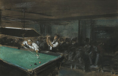 Everett Shinn, 'Pool Room', 1903