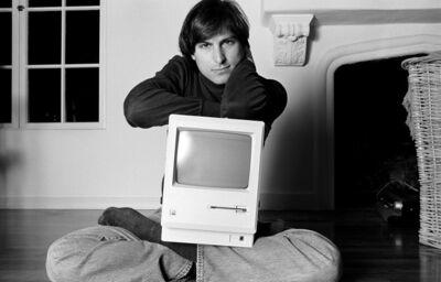 Norman Seeff, 'Steve Jobs (Mac On Lap)', 1984