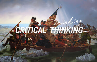 Shawn Huckins, 'Washington Crossing the Delaware: Critical Drinking', 2018