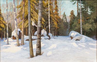 Walter Launt Palmer, 'Winter Woodlands'